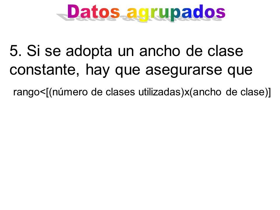 rango<[(número de clases utilizadas)x(ancho de clase)]